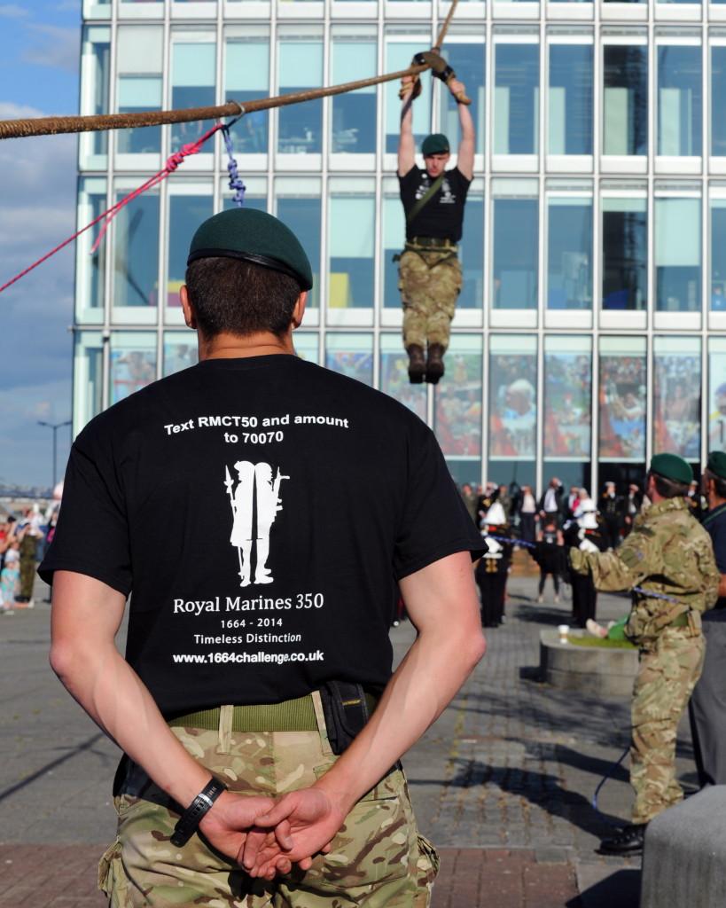 Royal Marine Baton Handover at the BBC Centre