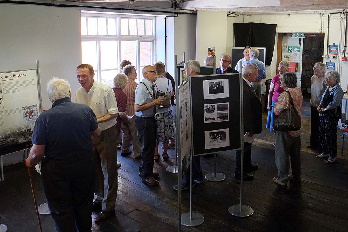 Guests at 'The Foxes: A Family Business' Exhibition