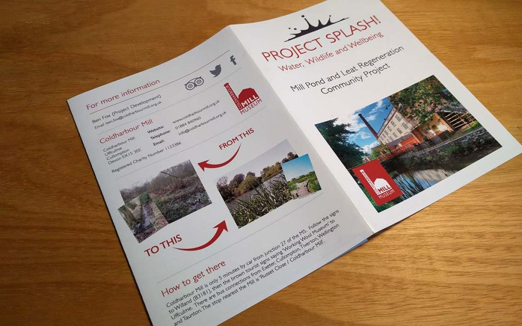 Coldharbour Mill Museum brand leaflet